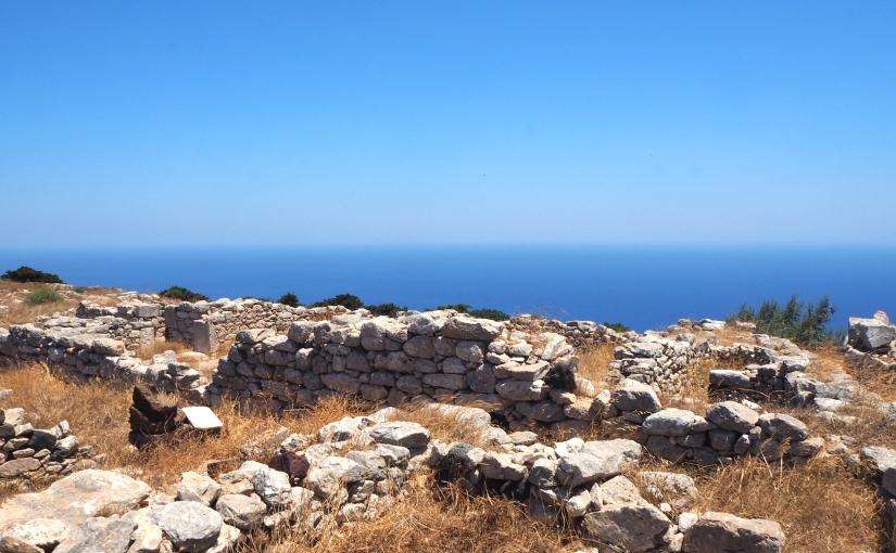 Exploring the ancient town of Thera on SantoriniIsland